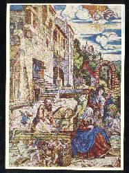 x02804; Die Heilige Familie bei der Arbeit.