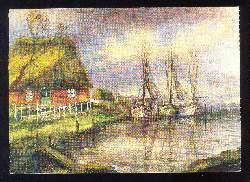 x03015; Ostfriessicher Hafen nach einem Gemälde.