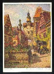 x03041; Rothenburg. Marksturm mit Röderbogen.