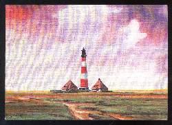 x03107; H. Rhode. Einsamer Leuchtturm.