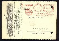 x03182; Firmenkarte. Münchberg Bayern .Aktien Färberei.