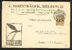 x03268; Bielefeld. C. Bornträger. Tinten, Farben, Klebstoff. Klappkarte.