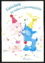 x03317; Einladung zu meiner Geburtstagsfeier.