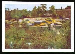 x03848; Hamburg. Internationale Gartenbau Ausstellung: Dahlienhügel im botanischen Garten.