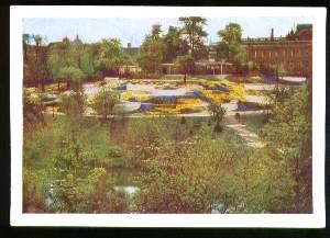 x03853; Hamburg. Internationale Gartenbau Ausstellung: Dahlienhügel im botanischen Garten.