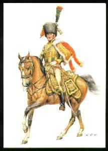 x03887; Kaiserreich Frankreich 1805 1815. Chasseurs a Cheval de la Garde. Leutnant.