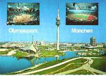 x04593; Olympiapark mit Olympiaturm, 290 m München.