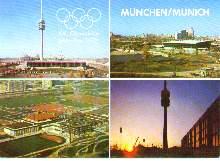 x04619; XX. Olympiade München 1972. Olympiaturm, Wahrzeichen einer friedlichen Begegnung.
