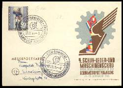 x05380; 4. Schuh Leder und Maschinenschau.