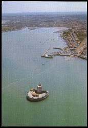 x05503; Bourcefranc. Le fort Louvois et le port du Chapus.