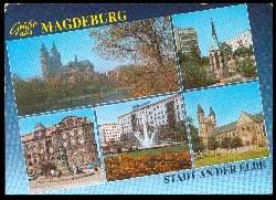 x06260; Magdeburg. Stadt an der Elbe. Gruss aus.