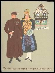 x06679; Mann und Frau in thüringischer Tracht.