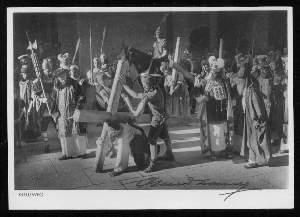 x07164; Oberammergau. Jubiläums Passionsspiele 1934: Kreuzweg. Mit Autogramm.