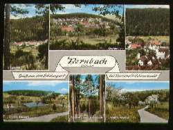 """x07524; Bernbach. Schw. Gasthaus und Pension """"Zum grünen Baum."""
