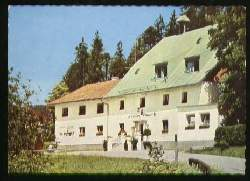 "x08100; Bahnstation Ludwigsthal. Gasthof u. Pension ""Zwieseler Waldhaus*."