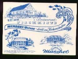 x08249; Niendorf/Ostsee. Restaurant Fischkiste.