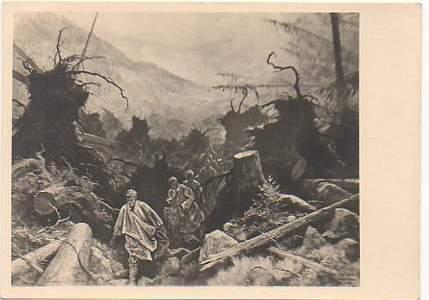 x09767; Im Windbruch. Ehret die Arbeit. Zur RAD Kunstausstellung Prag 1944