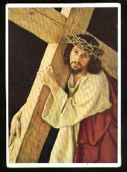 x10554; Passionsspiele 1950 Oberammergau. Kreuztragender Jesus.