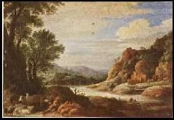 x11022 ; DAVID TENIERS d. J. (1610 1690) Flusslandschaft.