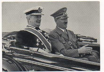 Foto / Postkarte mit der Ansicht wie der Reichsverweser v ...