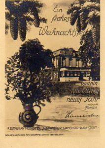 x11943; Hamburg Rahlstedt. Restaurant Hotel Hameister