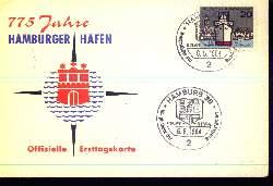 x12659; 775 Jahre. Hamburger Hafen. Offizielle Ersttagskarte.