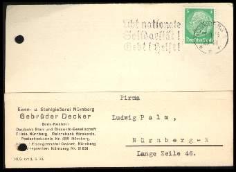 x12795; Nürnberg. Firmenkarte. Gebrüder Decker. Keine AK.