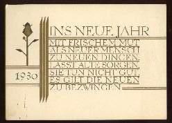 x13249; Ins neue Jahr. 1930. Keine AK.