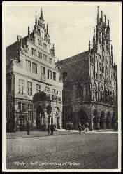 x13876; Münster. Stadtweinhaus mit Rathaus.