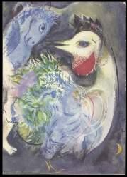 x14091; MARC CHAGALL. Les plumes en fleurs.