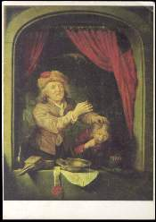 x14247; Gerard Dou. Der Zahnarzt.