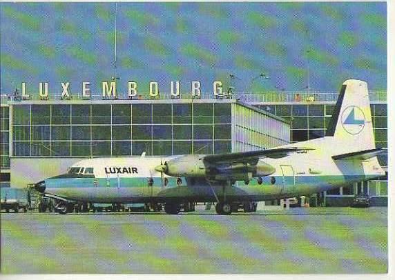 x14751; Luxair.Fokker Friendship F27.