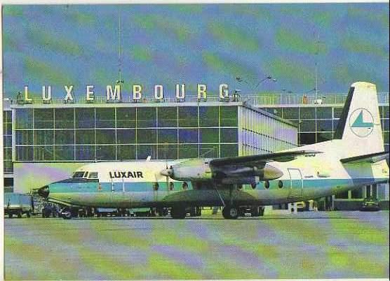 x14813; Luxair.Fokker Friendship F27.