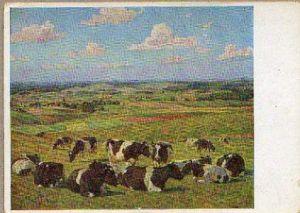 x15032; Tag, Willy. Kühe auf der Weide. Haus der Deutschen Kunst Nr. 140.