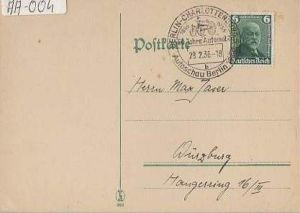 x15924; Auto – Stempel: Autoschau Berlin 18861936 50 Jahre Automobil; Berlin Charlottenburg; 28.02.1936. Michel Nr.604 EF.