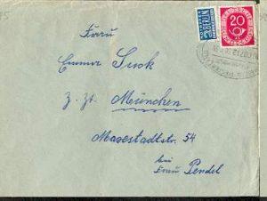 x15942; Bahnpost; Hamburg Westerland ZUG 60712. 30.4.53