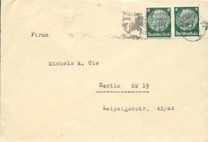 x16057; Feuer Stempel: Dresdner Jahresschau Juni September 1935. Der Rote Hahn. Feuerschutz u. Rettungswesen