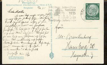x16058; Feuer Stempel: Dresdner Jahresschau Juni September 1935. Der Rote Hahn. Feuerschutz u. Rettungswesen