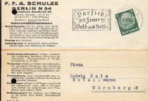 x16059; Feuer Stempel: Vorsicht mit Feuer in Wald und Heide. Berlin N4,7.09.1938; (gelocht).