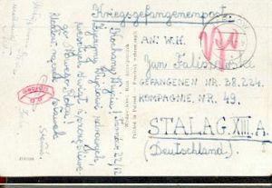 x16072; Kriegsgefangenepost. Tarnow 1939; Pol. Ak Karte nach Stalag XIII A ; geprüft (rot).