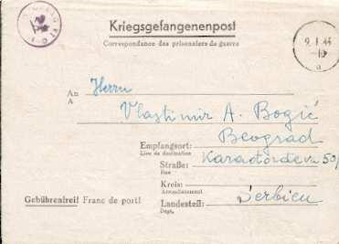 X16073 Kriegsgefangenepost Oflag Vic 9144 Briefvordruck Nach