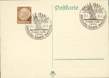 x16111; Halle(Saale). Mitteldeutsche Industrie Ausstellung 23.Sep.bis 9.Okt. 1938