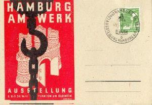 x16148; Messe Stempel: Ausstellung München 1927 Mai bis Oktober Bayerische Handwerk. München 26.7. 27.