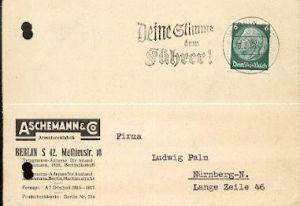 x16267; NS Zeit: Deine Stimme dem Führer. Berlin 26.3.38.