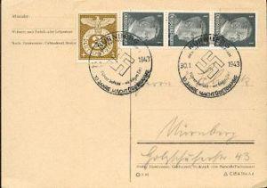 x16279; NS Zeit: Führer befiehl – wir folgen dir!. 10 Jahre Machtübernahme. Nürnberg 30.1.1943