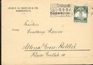x16287; NS Zeit: Reichsparteitag der NSDAP in Nürnberg vom 10 bis 16 Sept.1935. Hamburg 3.9.35
