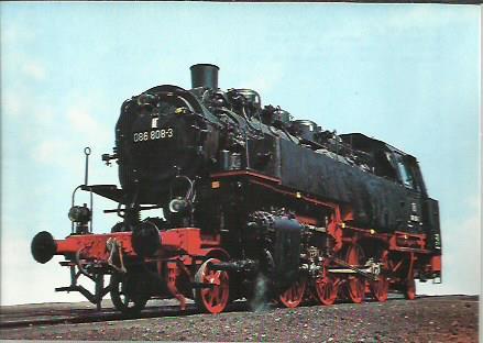 x16313. Baureihe 86. Güterzug - Tenderlok .