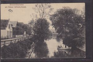 AK Brunsbüttelhafen am Kaiser Wilhelm Kanal Langereihe 1917