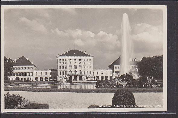 AK München Schloß Nymphenburg ( Parkansicht) 1940