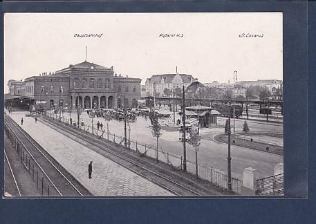AK Posen Hauptbahnhof-Postamt-St.Lazarus 1920
